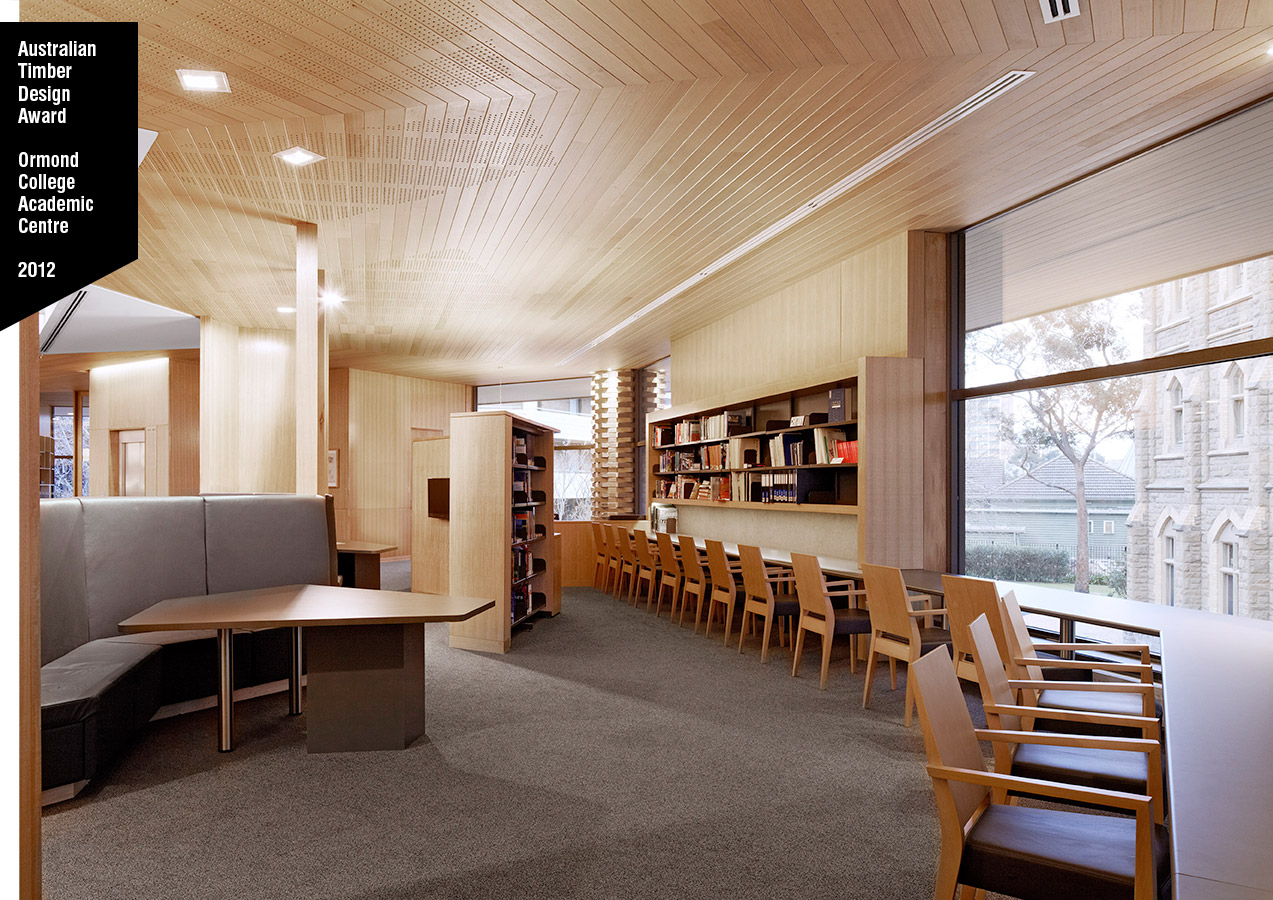 McGlashan Everist Australian Timber Design Award Ormond College 2012